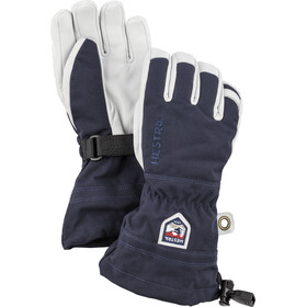 Hestra Army Leather Heli Ski 5-Finger Handschuhe Kinder navy